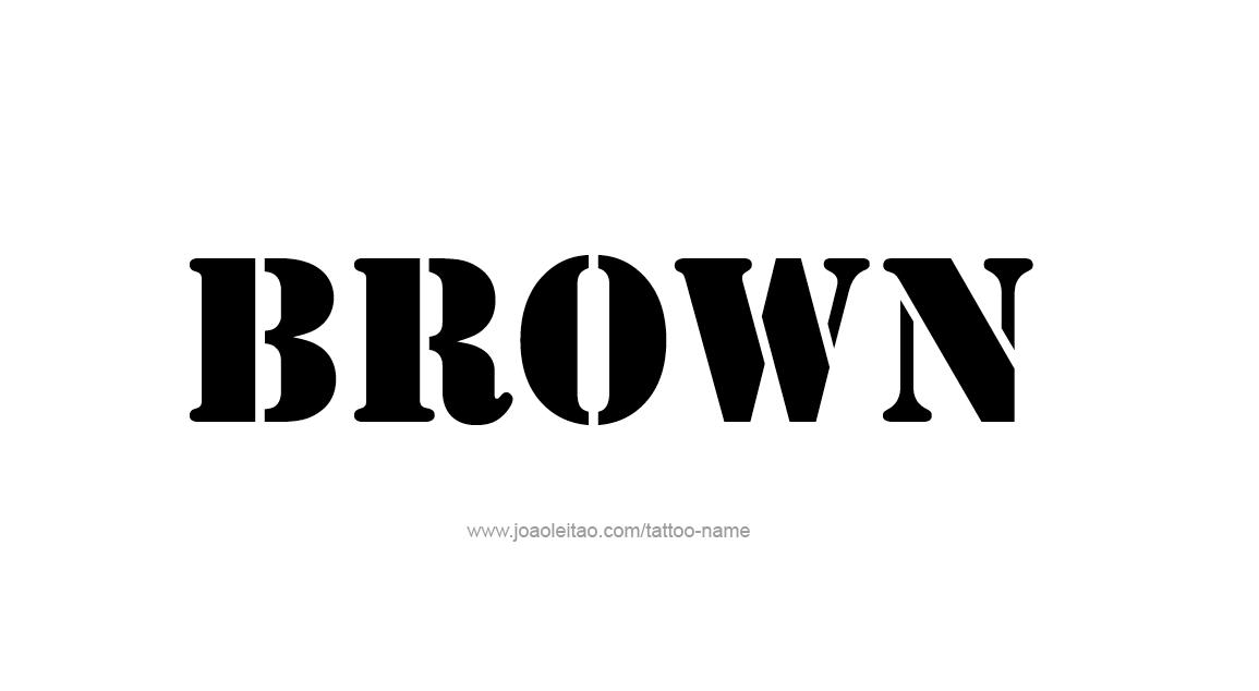 Tattoo Design Color Name Brown