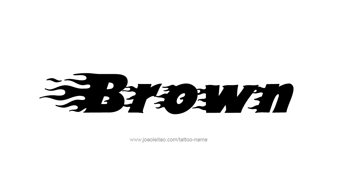 Tattoo Design Color Name Brown