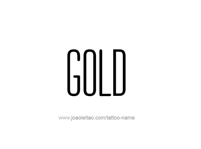 Tattoo Design Color Name Gold