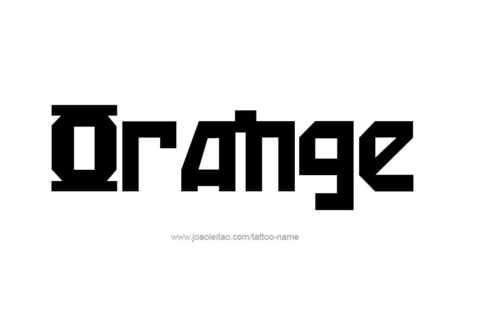 Tattoo Design Color Name Orange