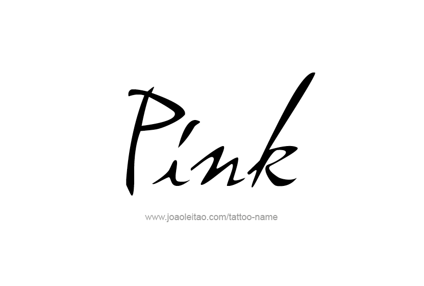 Tattoo Design Color Name Pink