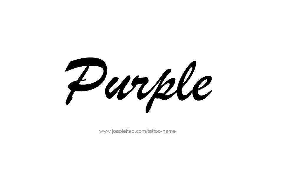 Tattoo Design Color Name Purple