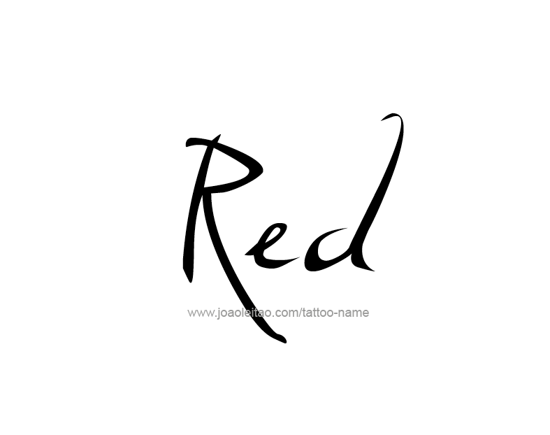 Tattoo Design Color Name Red