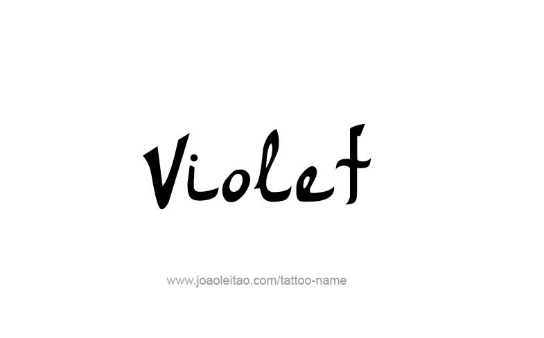 Tattoo Design Color Name Violet