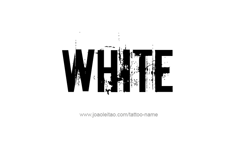 Tattoo Design Color Name White