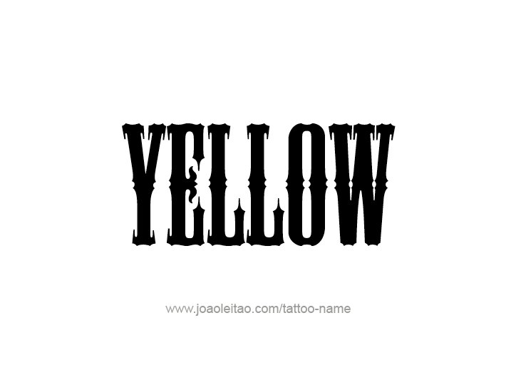 Tattoo Design Color Name Yellow