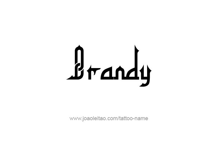Tattoo Design Drink Name Brandy