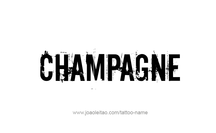 Tattoo Design Drink Name Champagne