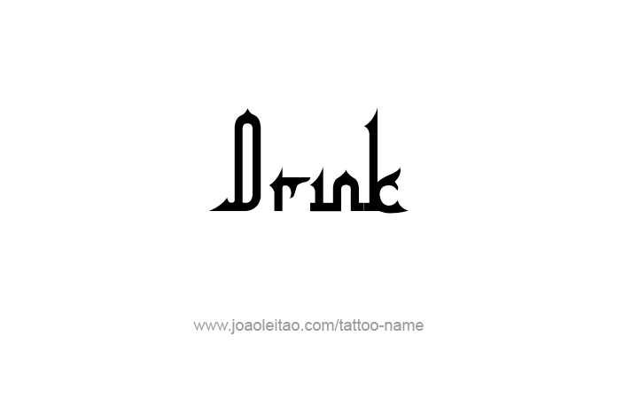 Tattoo Design Name Drink
