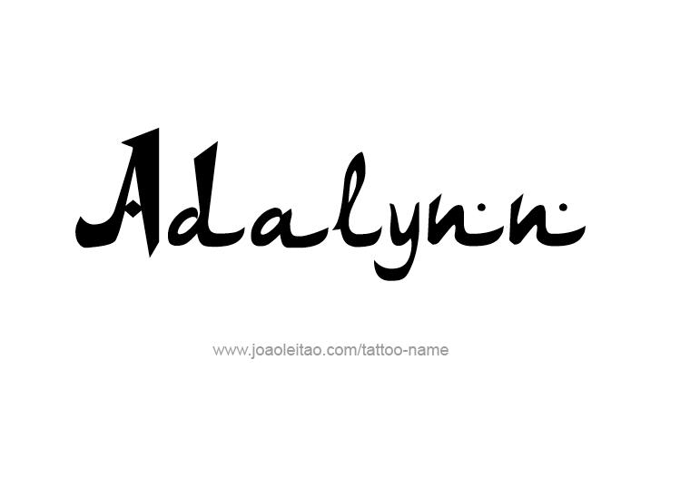 Tattoo Design Name Adalynn