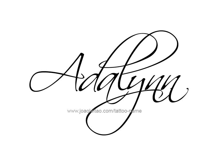 17+ Adalynn in cursive information