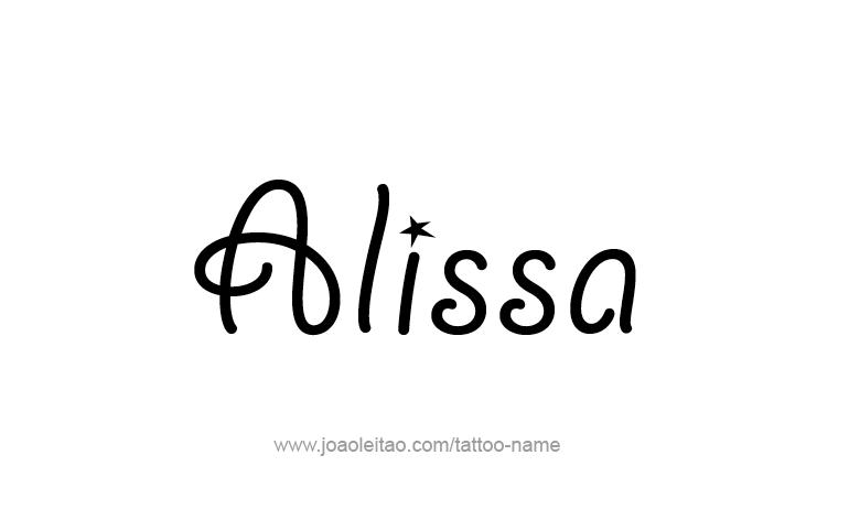 Tattoo Design Name Alissa
