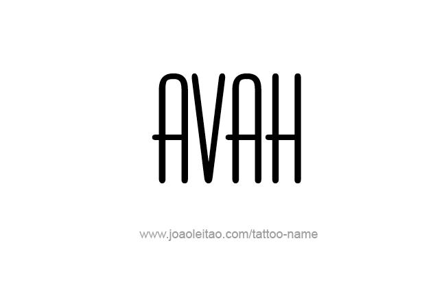 Tattoo Design Name Avah
