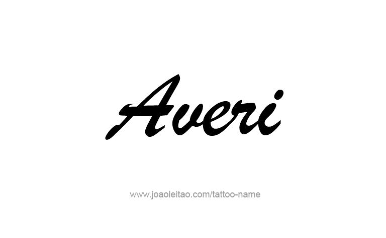 Tattoo Design Name Averi