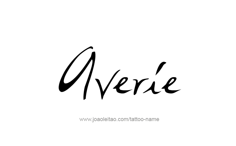 Tattoo Design Name Averie