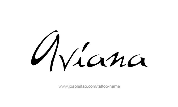 Tattoo Design Name Aviana