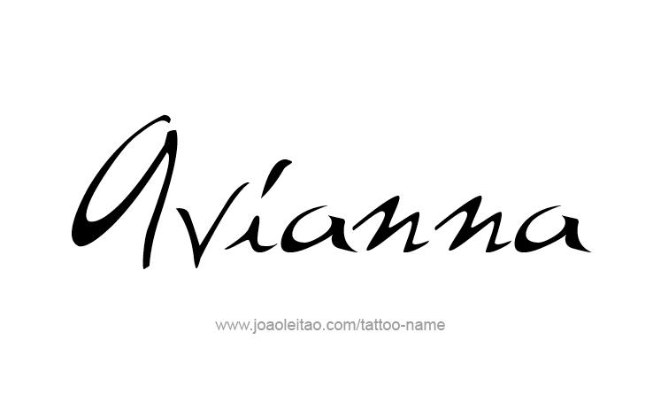 Tattoo Design Name Avianna