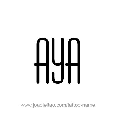 Tattoo Design Name Aya
