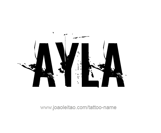 Tattoo Design Name Ayla