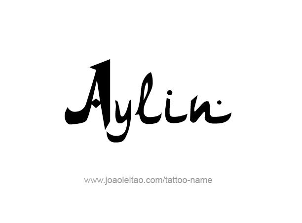 Tattoo Design Name Aylin