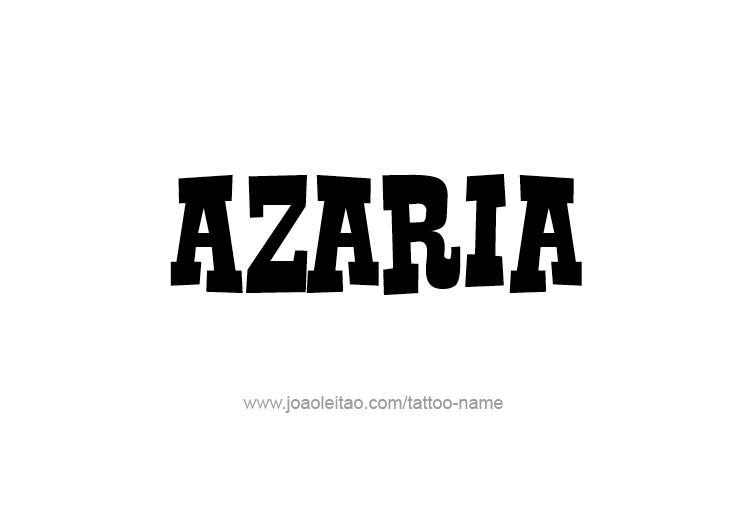 Tattoo Design Name Azaria