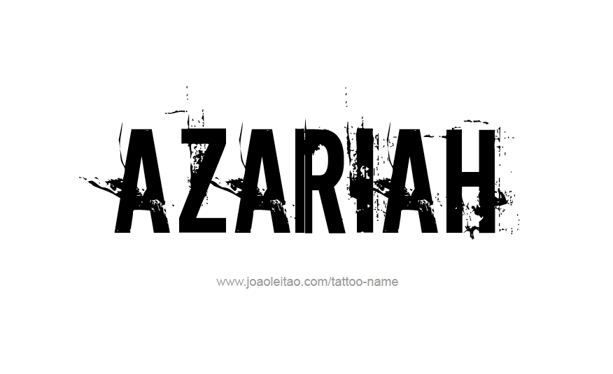 Tattoo Design Name Azariah