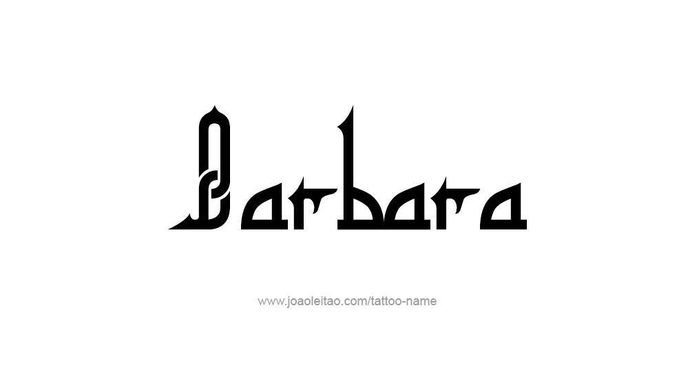Tattoo Design Name Barbara