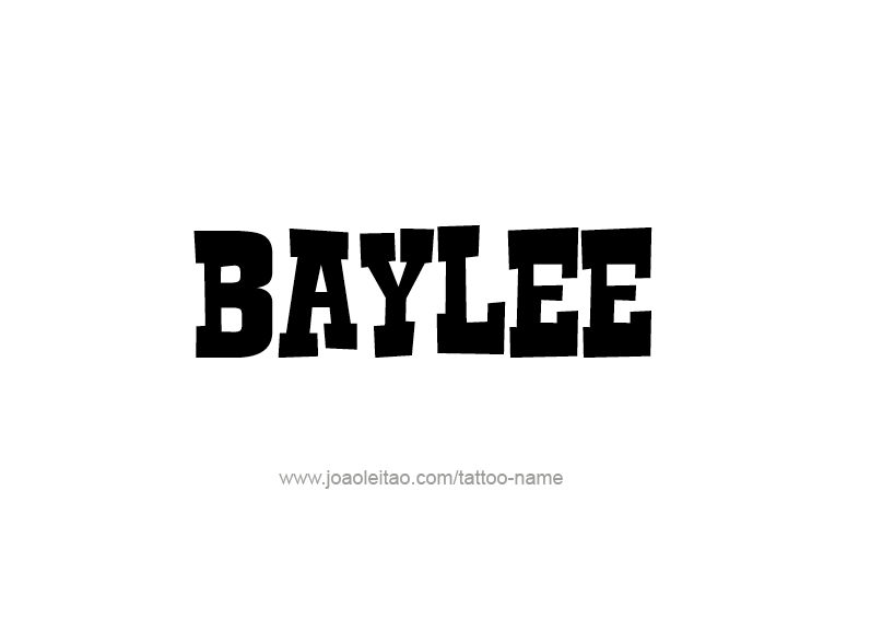 Tattoo Design Name Baylee