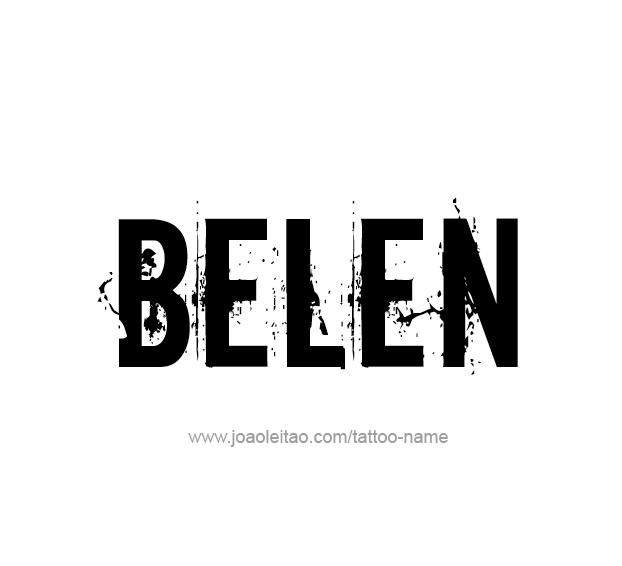 Tattoo Design Name Belen
