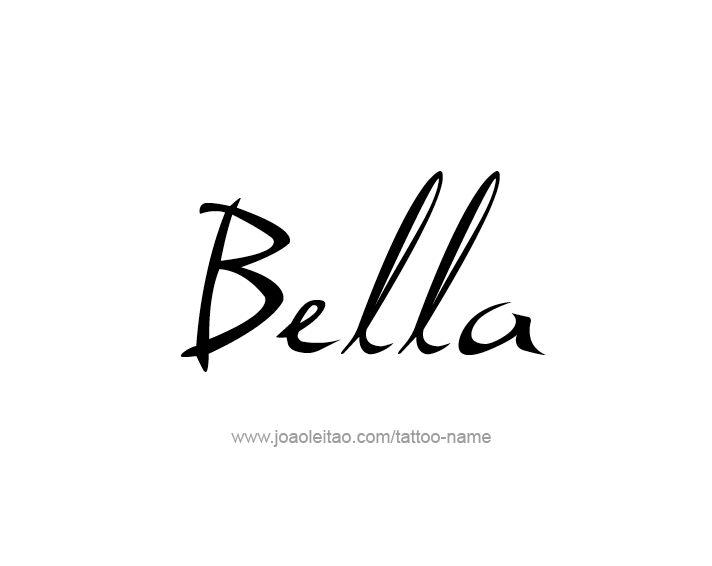 Tattoo Design Name Bella