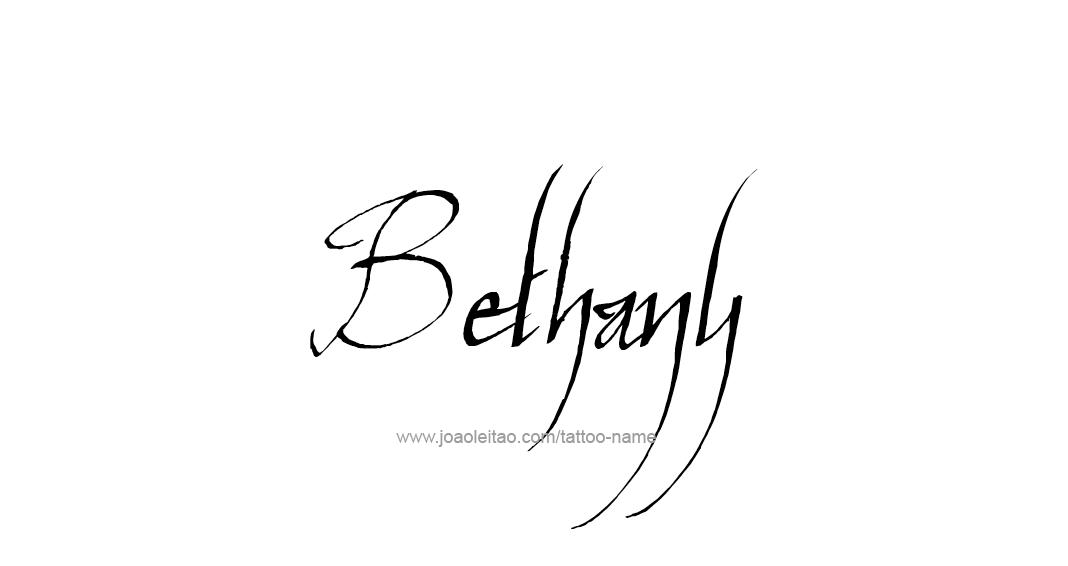 Tattoo Design Name Bethany