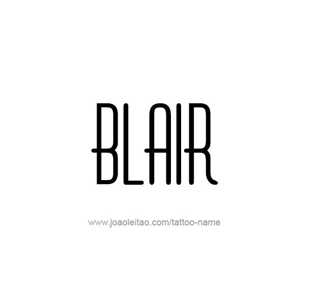 Tattoo Design Name Blair