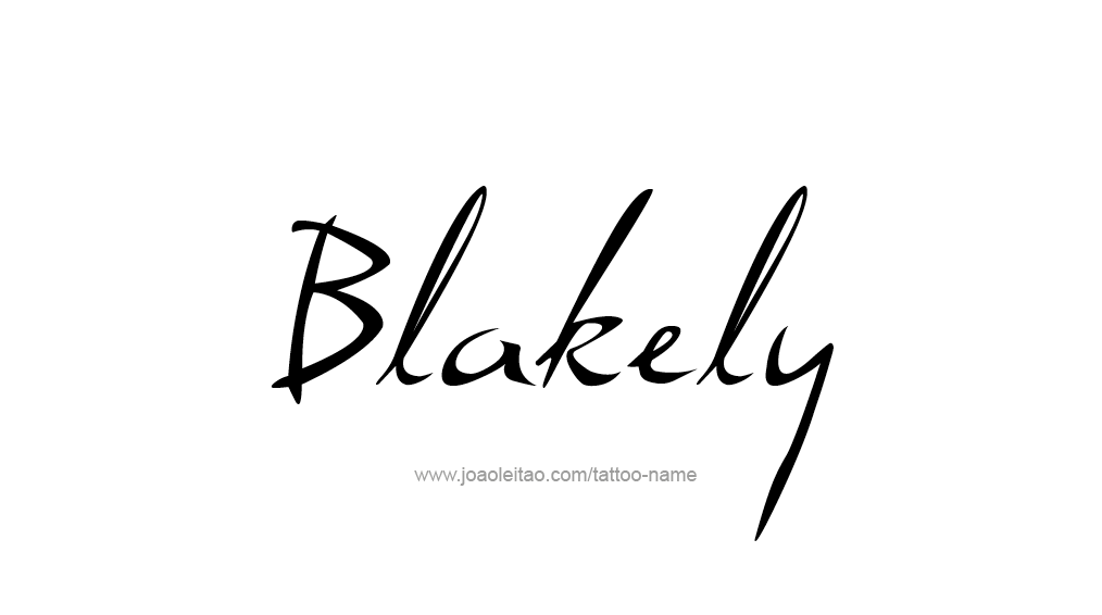 Tattoo Design Name Blakely