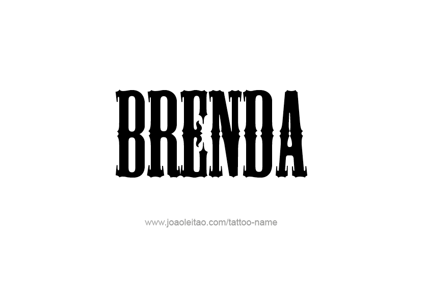 Tattoo Design Name Brenda