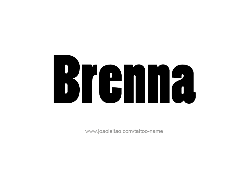 Tattoo Design Name Brenna