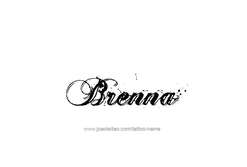 Tattoo Design Name Brenna