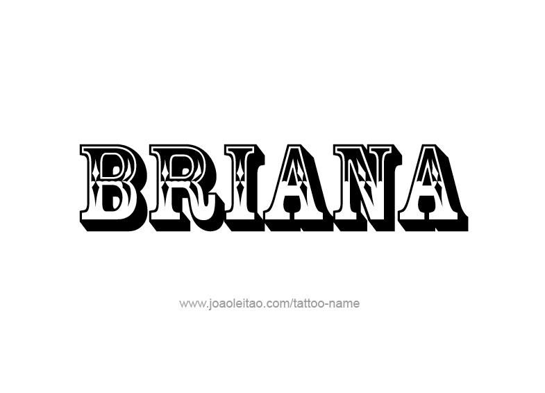 Tattoo Design Name Briana