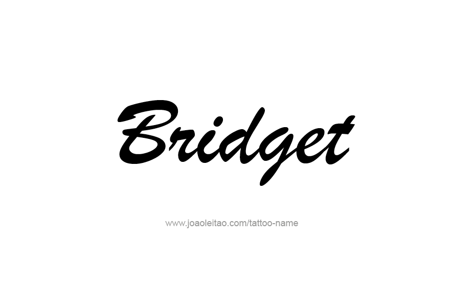 Tattoo Design Name Bridget