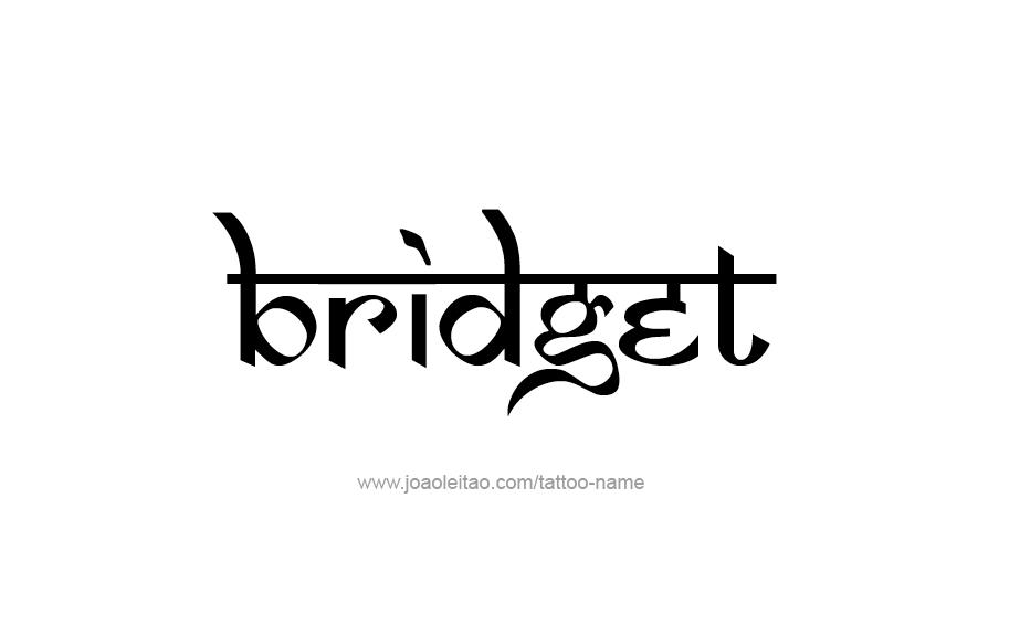 Bridget Name Tattoo Designs