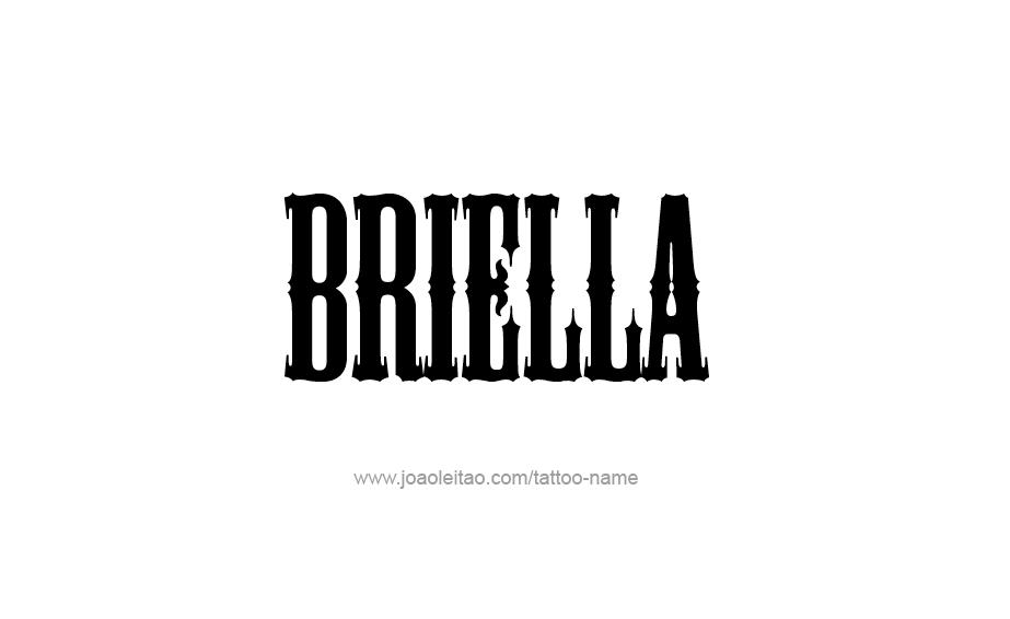Tattoo Design Name Briella