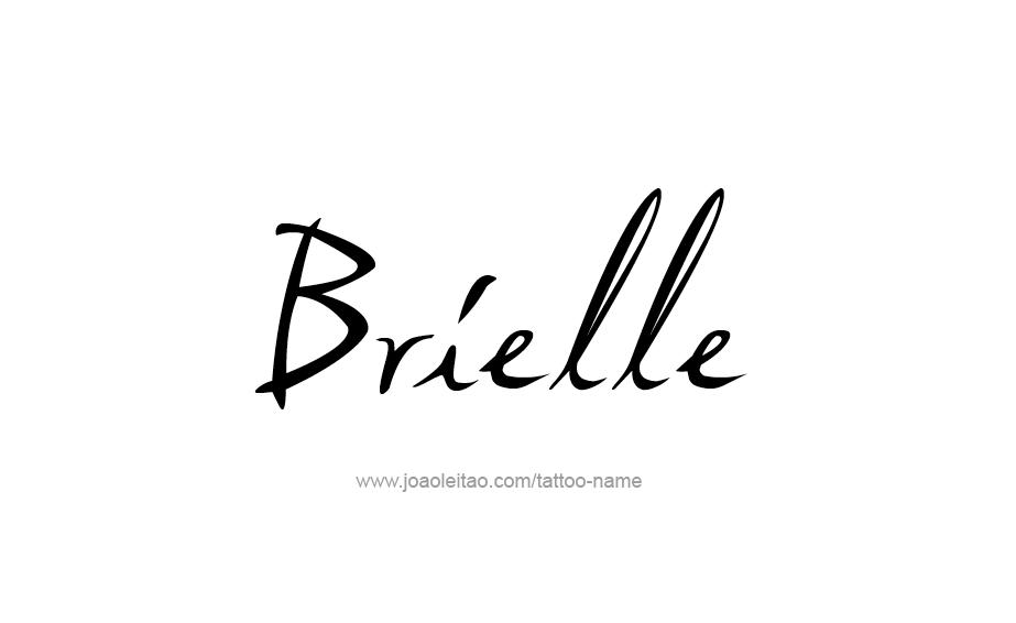 Tattoo Design Name Brielle