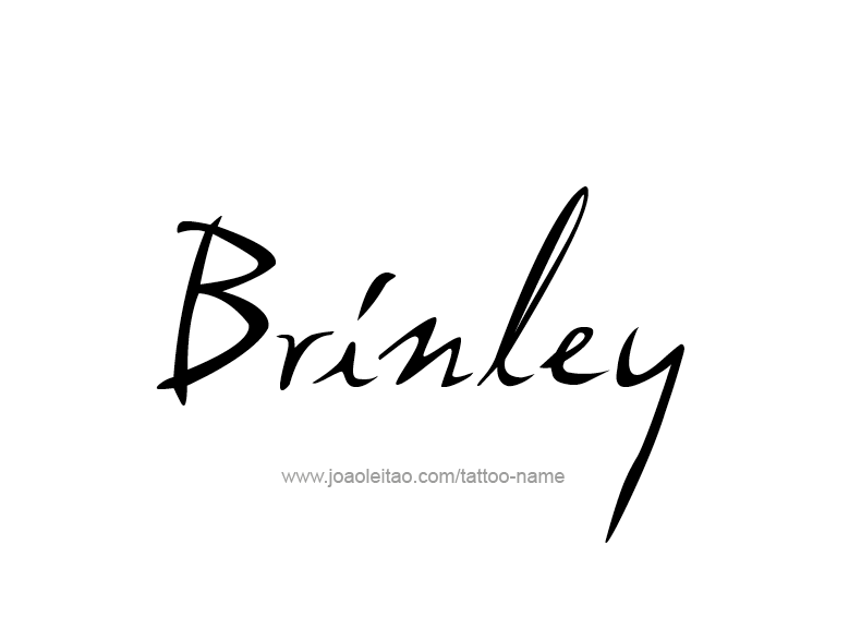 Tattoo Design Name Brinley