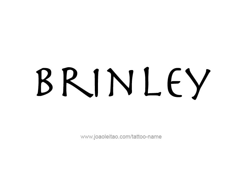 Tattoo Design Name Brinley
