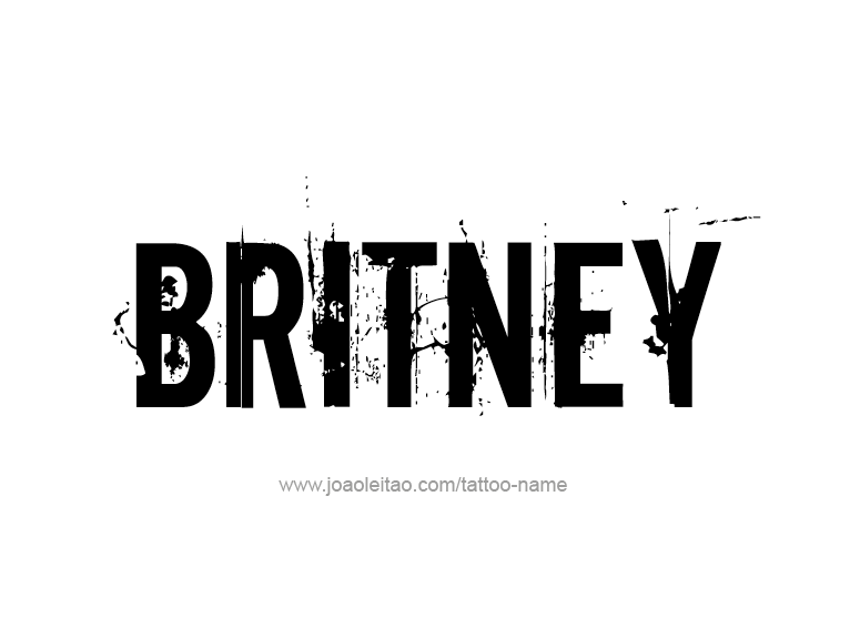 Tattoo Design Name Britney