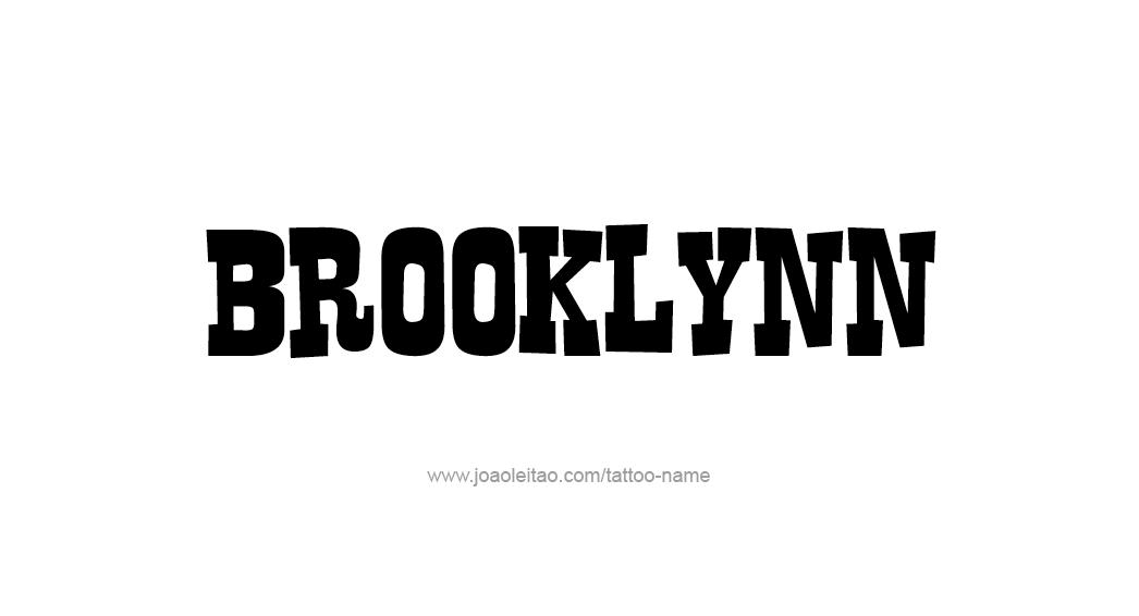 Tattoo Design Name Brooklynn