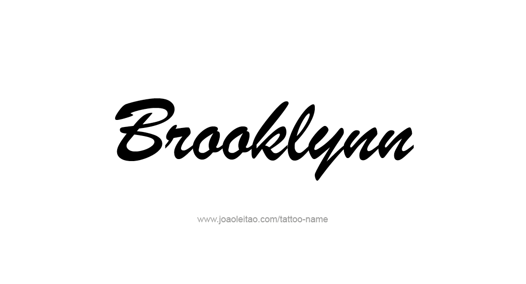 brooklynn name tattoo designs