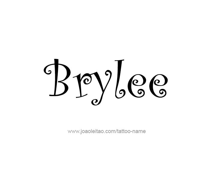 Tattoo Design Name Brylee