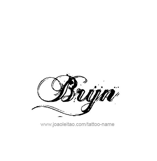 Tattoo Design Name Bryn