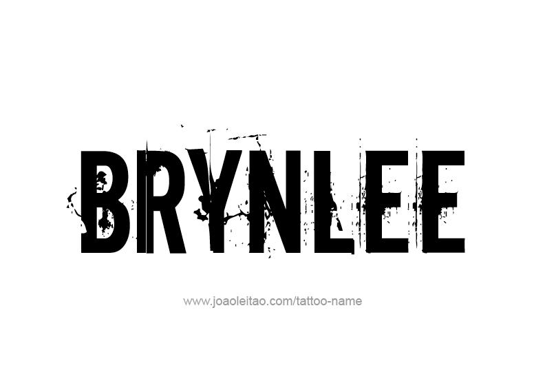 Tattoo Design Name Brynlee