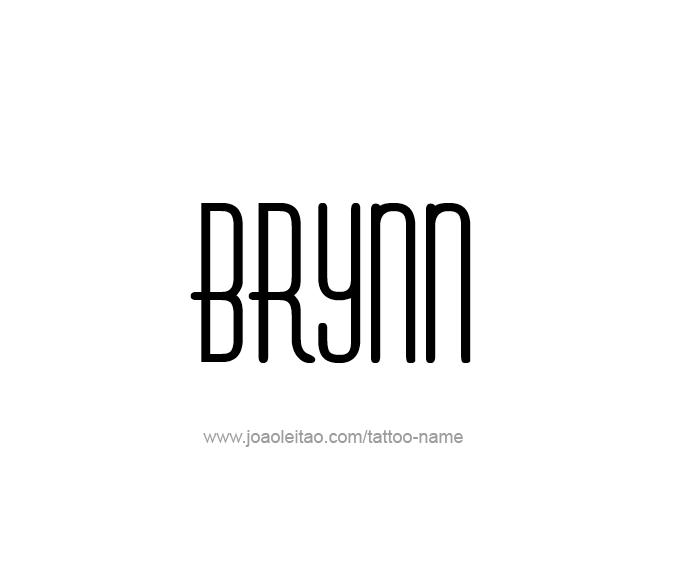 Tattoo Design Name Brynn
